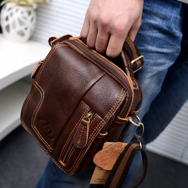 New fashion Retro Casual Genuine Leather multi-function Small Crossbody Messenger Travel Bags