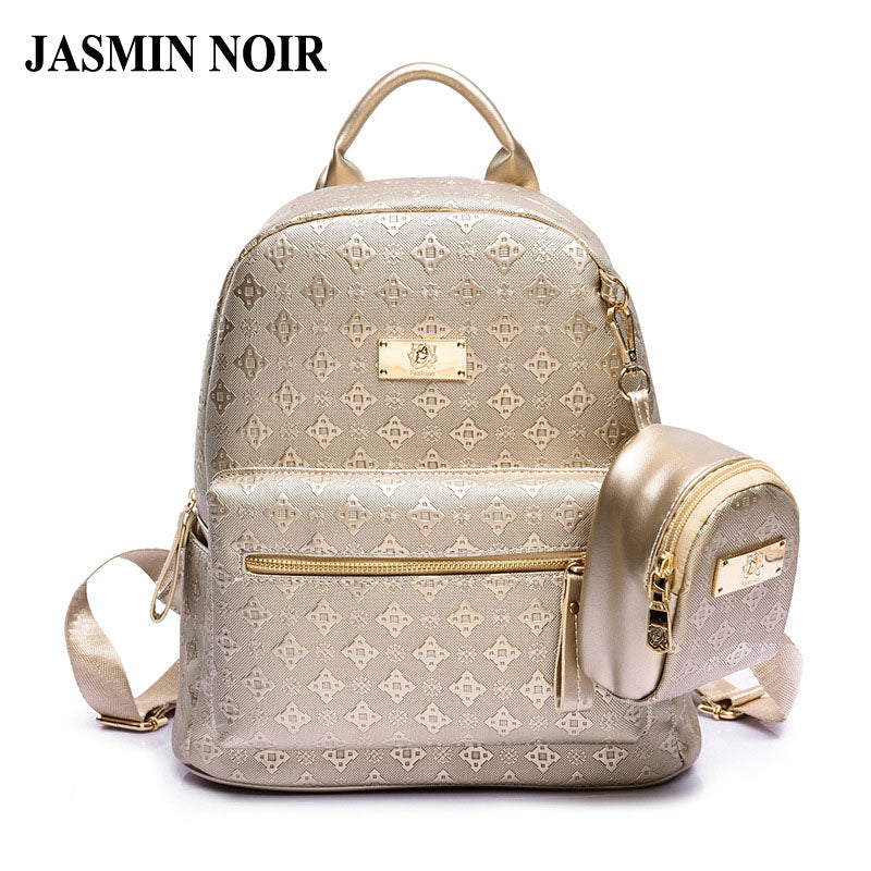 SPECIAL OFFER: Backpack Fashion Leisure Pu Bag Set With Purse School Bag for Teenage Girl