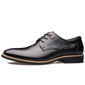 SPECIAL OFFER: Merkmak Luxury Brand Fashion High Quality Genuine Leather Lace Up Business Shoes