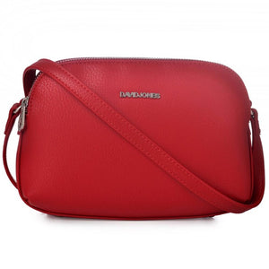 DAVIDJONES Multi-Pocket Crossbody Purse Bags, Small PU Bags, Shoulder Bags, Clutch Bag