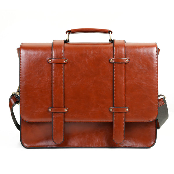 LIMITED OFFER: ECOSUSI New Handbag, Vintage Messenger Bag, Satchels Briefcase, 14.7'' Laptop Bags