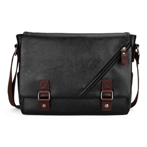 VICUNA POLO High Quality Leather Shoulder Messenger Bag Double hasp Open Satchel Fashion