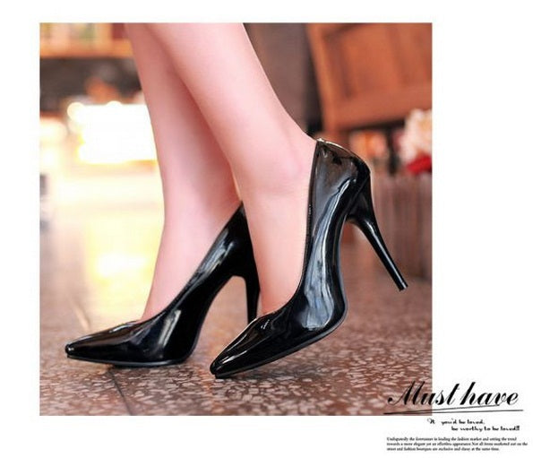 SPECIAL OFFER: Plain elegant high heels pointy toe office shoes, leather pumps OL Kovell