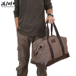 SPECIAL OFFER: Fashion Canvas Vintage Messenger Bags, Solid Unisex Large Capacity Travel Handbag