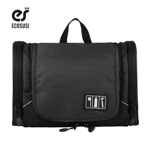 ECOSUSI Travel Accessories With Hanger, Toiletry Carry Case, Cosmetics Organizer Bag
