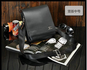 Top Brand 100% Genuine Leather High Quality Cowskin Crossbody Business Bags for iPad Tablet