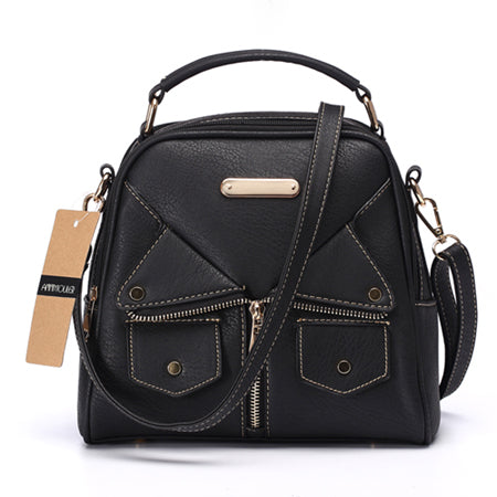 SPECIAL OFFER: Fashion Ladies Shoulder Crossbody Messenger Bag Double Zipper Handbag
