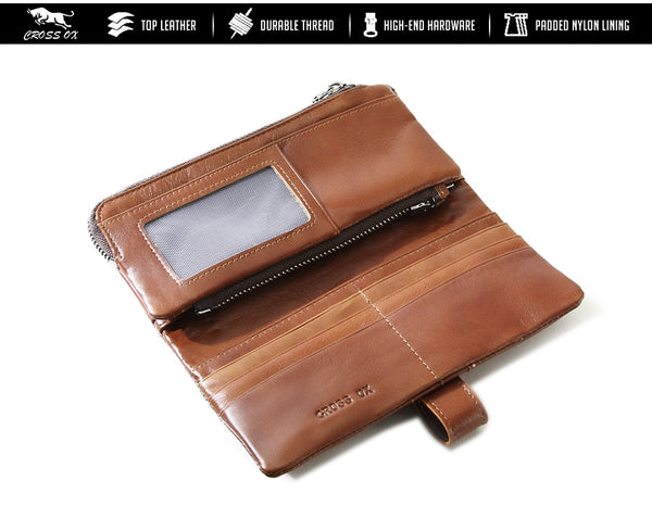 LIMITED OFFER: CROSS OX New Arrival Genuine Leather Wallet, Continental Wallets, Passport Holder