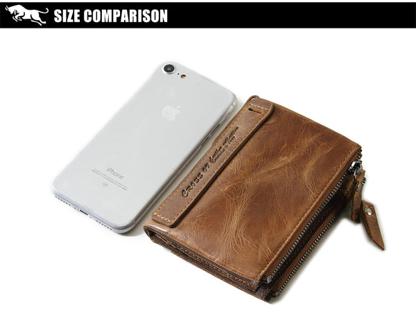 LIMITED OFFER: CROSS OX New Arrival Genuine Cowhide Leather Wallets, Card Holder Business Wallets