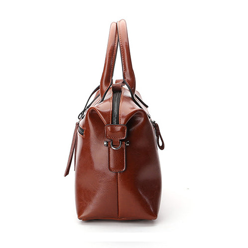 SPECIAL OFFER: New Real Cow Leather Boston Crossbody Casual Bag, Big Handbags