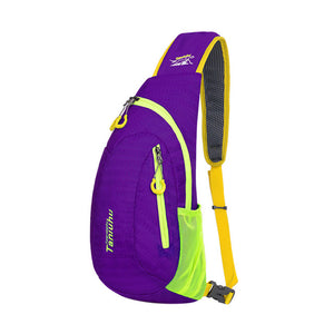 New Unisex Nylon Colorful Running Shoulder Chest Bag, Outdoor Sports Gym Bags