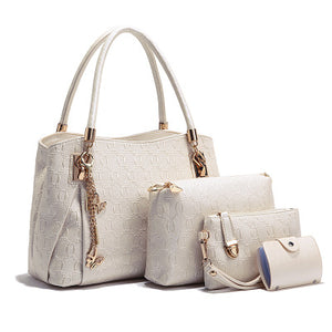 SPECIAL OFFER: TTOU 4Pcs New Arrival Luxury Handbags PU Leather Crossbody Bag Top-handle Purse