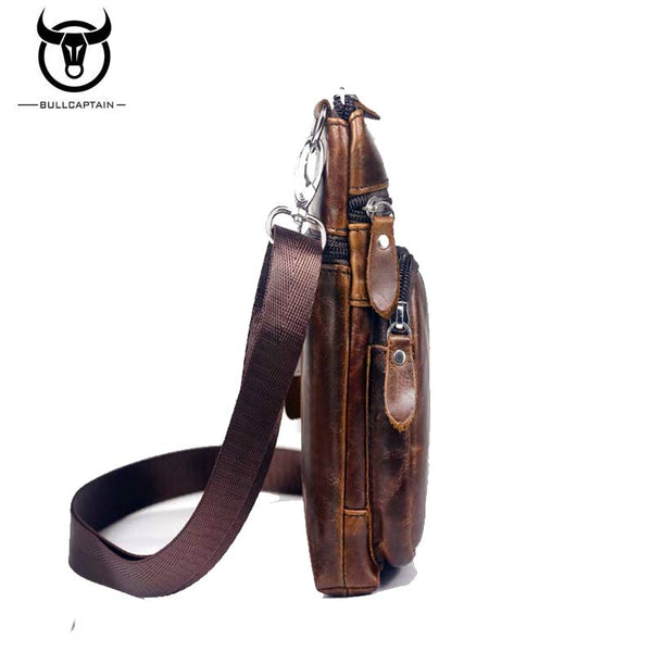 LIMITED STOCK: BULL CAPTAIN Famous Brand Genuine Leather Mini Crossbody/Shoulder Bags