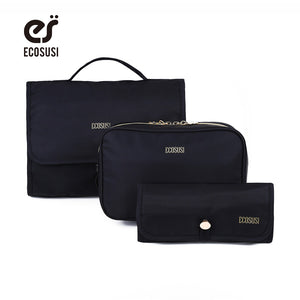 ECOSUSI New Fashion Nylon Travel Cosmetic Cases, Multi-function Organizer Bag, Toiletry Kits Bag