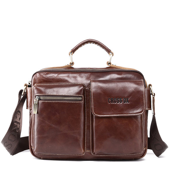 CROSS OX Spring New Men's Handbag, Satchel Genuine Leather Bags, Briefcase, Messenger Bag