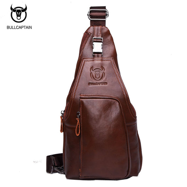 LIMITED STOCK: BULL CAPTAIN Famous Brand Genuine Leather Small Shoulder Bag, Crossbody Bag