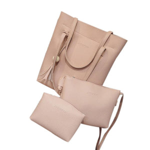 SPECIAL OFFER: Three Pieces Bag; Messenger/Crossbody Bags, Top Handle Bags Portefeuille Femme