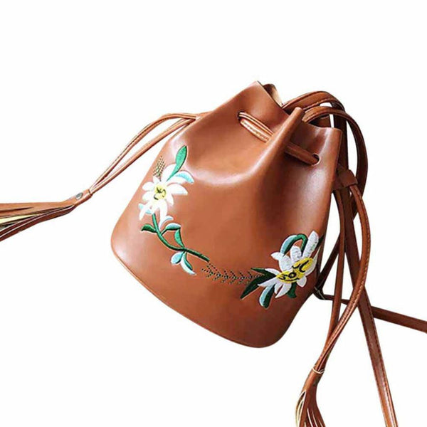 Women bag Tassels Bucket Bag women messenger bag small leather handbag