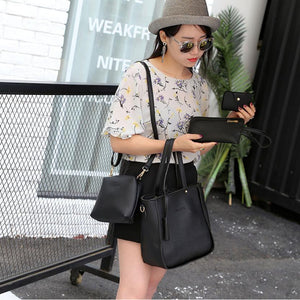 SPECIAL OFFER: 4 Pcs Bag set PU Leather Shoulder Bags, Messenger Bags, Small Clutch Handbags