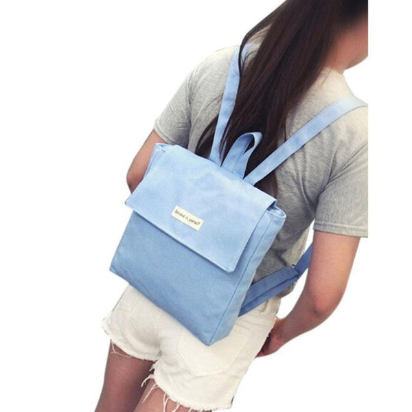 Unisex Backpack Bags Canvas Travel Cute Satchel School Bag, Shoulder Bags Rucksack mochilas coleg