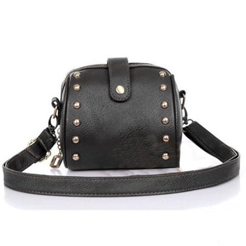 Handbags Casual Tote PU Leather Shoulder Bags, Mini Camera Bag Rivets, Small Handbags
