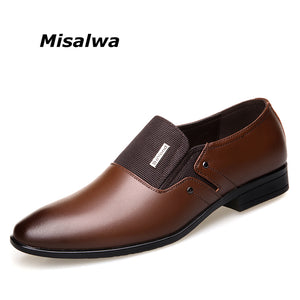 Misalwa Formal Wedding Shoes Luxury Business Shoes, Pointy Shoes Big Size 38-47