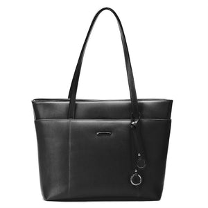 ECOSUSI New Fashion PU Leather Casual Tote Bags, Handbags, Messenger Bags With Tassel