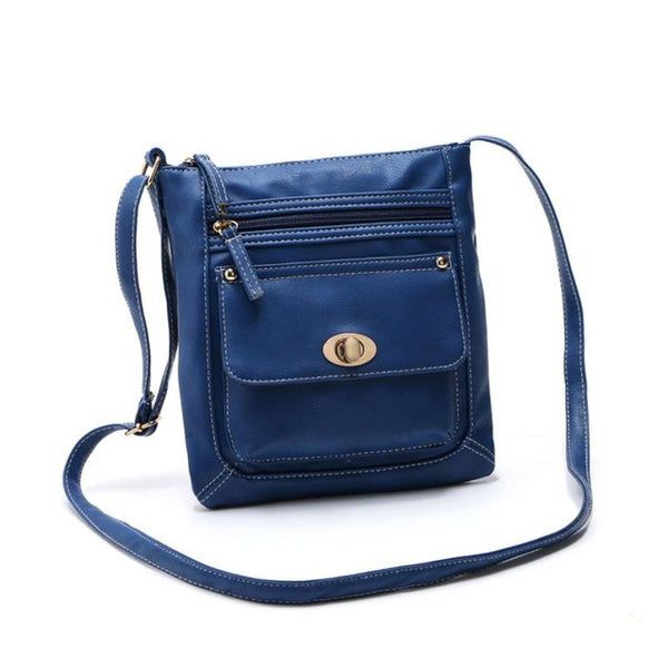 Ladies Handbags Zipper Casual Leather Satchel Cross Body Shoulder Versatile Bags