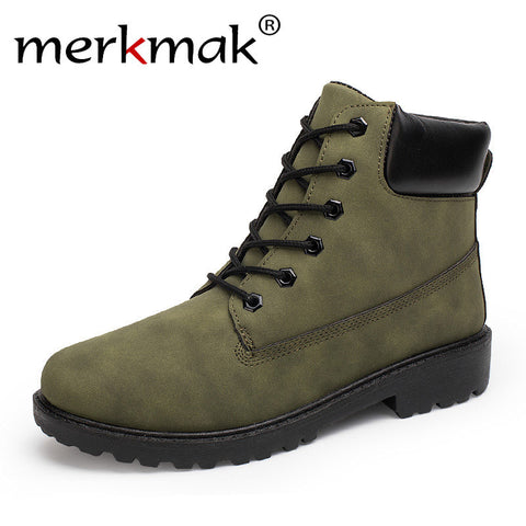 Merkmak New Style Breathable Shoes Fashion Martin Boots Winter Autumn Brand Designer Masculinos