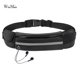 New Outdoor Running Waist Bag Waterproof Mobile Phone Holder Jogging Belt Bag Gym Fitness Sport Bag