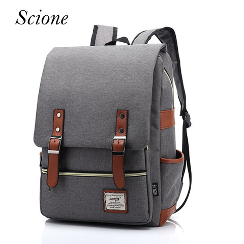 Vintage Canvas Backpack Travel Rucksack Laptop School Bags for teenagers girls shoulder Bag Li86