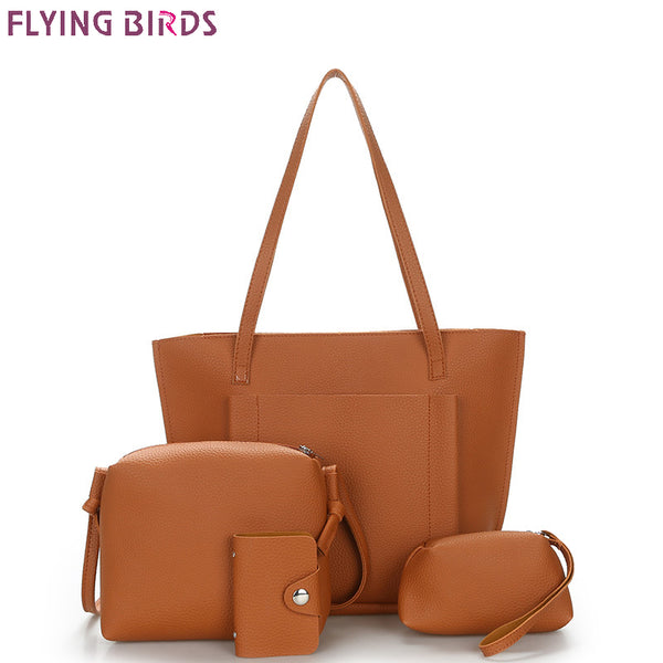 FLYING BIRDS famous high quality Composite Set Bag, Handbags, Messenger Bags