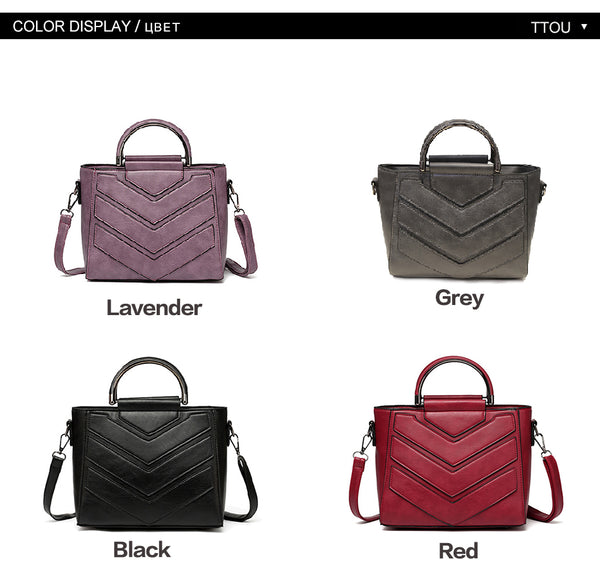 SPECIAL OFFER: TTOU Famous Brand High Quality PU Leather Luxury Designer Ladies Bags, Handbags