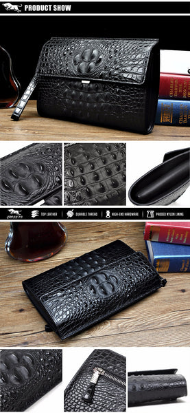 LIMITED OFFER: CROSS OX Summer New Arrival Genuine Leather Clutch Bags For Men, iPad Bags