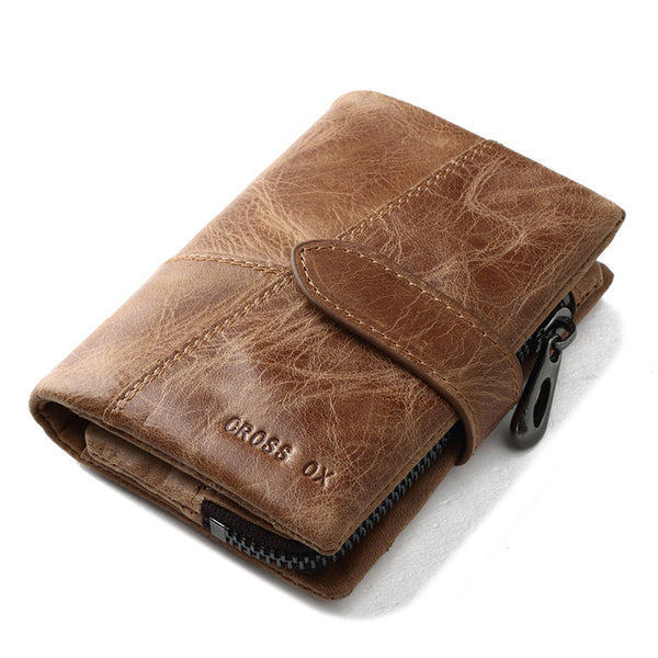 SPECIAL OFFER: CROSS OX New Arrival Genuine Leather Wallet French Style, Rugged Cash Organizer