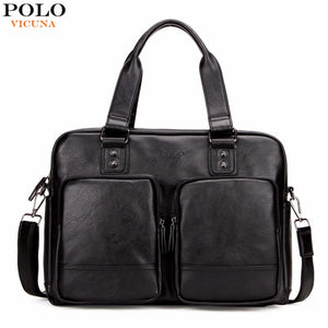 VICUNA POLO High Quality Leather Fashion Big Size Travel Bags With Large Pockets Handbag