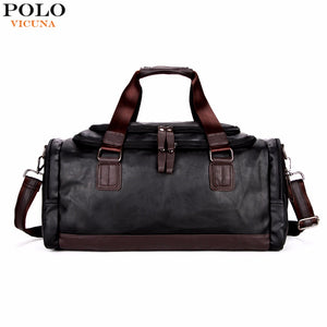 SPECIAL OFFER: VICUNA POLO Large Capacity Simple Contrast Black Casual Duffel Bag For Travel