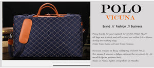 VICUNA POLO Luxury Large Brand Size Burglarproof Rotary Buckle Fashion Travel Duffle Bags