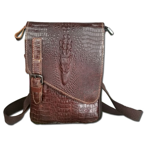 LIMITED STOCK: New Alligator Genuine Leather Casual Small Shoulder Crossbody Bags For Men