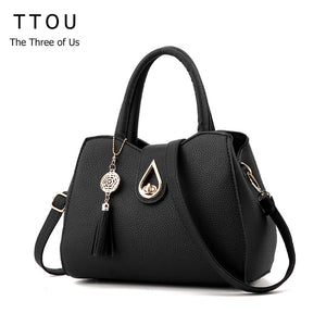 SPECIAL OFFER: TTOU Tassel Pendant High Capacity Handbag, Water Droplets Sequined Shoulder Bag