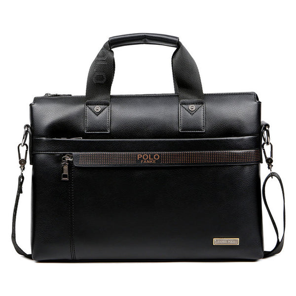 LIMITED STOCK: FANKE POLO Leather Briefcase Shoulder Messenger Bags Laptop Handbag