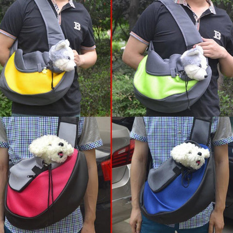Special Design Pet Dog Cat Carrier Mesh Travel Shoulder Sling Bag Comfortable Dog Backpack