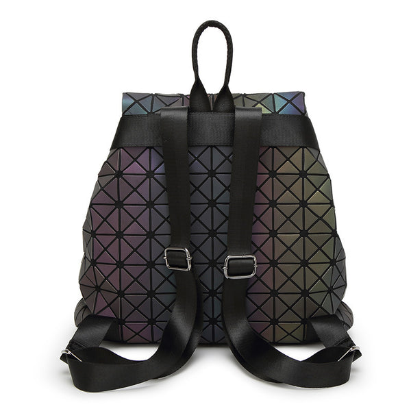 New Luminous Fashion Daily Backpack, Geometry Package Sequins Folding Bags, School Bags