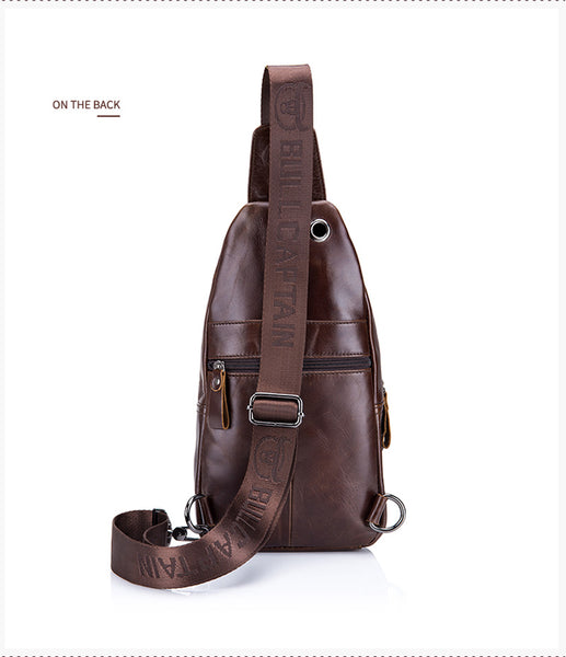 LIMITED STOCK: BULL CAPTAIN Genuine Leather Crossbody/Chest Bags, Small Shoulder Bags