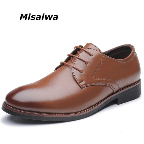 SPECIAL OFFER: Misalwa New Arrival Leather Shoes Size 6-12.5 Office / Business Daily Oxfords Shoes