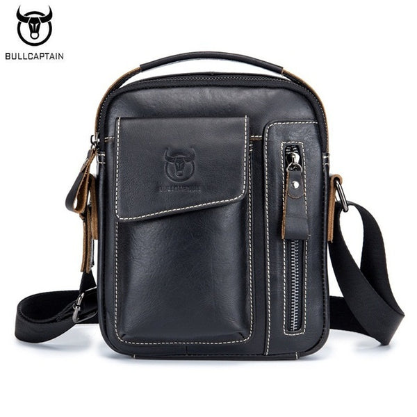 BULL CAPTAIN Genuine Leather Fashion Handbag, Shoulder Crossbody Casual Bag