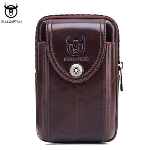 LIMITED STOCK: BULL CAPTAIN Retro Small Vintage Genuine Leather, Belt Bag, Mini Phone Bag