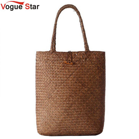 Vogue Star 2018 Summer Design Handbags, Straw Beach Bags, Large Capacity Tote Shoulder Bags