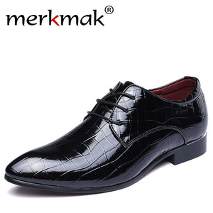 Merkmak Men's Oxfords Leather Wedding, Business and Formal Party Shoes, Chaussure Homme Shoes