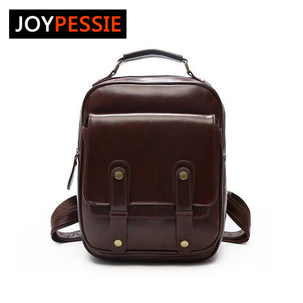 JOYPESSIE Brand Vintage Backpack, Mochilas Travel PU Leather School Bags For Teenage Girls